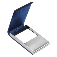 Púzdro na vizitky TROIKA NIGTH SKY - Luxusné púzdro na vizitky / karty z ušľachtilej ocele a pravej kože s gravírovaním.