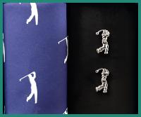 Sada vreckovka + manžetové gombíky GOLF - 100% bavlnená pánská vreckovka tematicky zladená s manžetovými gombíkmi. Tovar máme na sklade - pripravené k okamžitému odoslaniu!