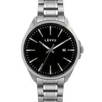 Hodinky LAVVU STAVANGER Black, pánské - Špičkové pánské náramkové hodinky. Gravírujeme podle vašeho zadání! Přesně, rychle, kvalitně. Zboží skladem, expedice do 24h.