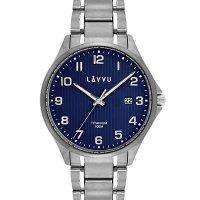 Hodinky LAVVU Titanum Lillehammer Blue, pánske - Špičkové pánske náramkové hodinky. Gravírujeme podľa vášho zadania! Presne, rýchlo, kvalitne. Tovar skladom, expedícia do 24h.