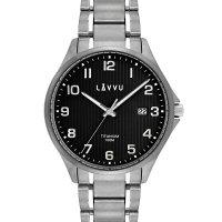 Hodinky LAVVU Titanum Lillehammer Black, pánske - Špičkové pánske náramkové hodinky. Gravírujeme podľa vášho zadania! Presne, rýchlo, kvalitne. Tovar skladom, expedícia do 24h.
