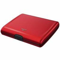 Hliníková peněženka TRU VIRTU RAY Papers & Cards Red Pepper - s laserovým gravírováním