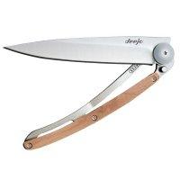 Nůž deejo 1CB002, juniper wood - s gravírováním