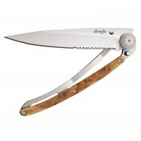 Nůž deejo, juniper wood, 37g, ONE HAND, 1CB502 - s gravírováním