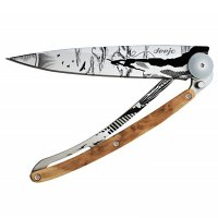 Nůž deejo Tatto, Climbing, juniper wood, 37g, 1CB031 - s gravírováním