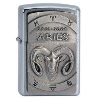 Zapalovac ZIPPO#200, Aries Emblem, Brushed Chrome - s gravírováním