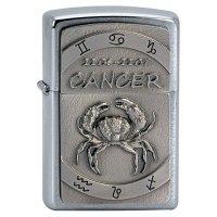 Zapalovač ZIPPO#200, Cancer Emblem, Brushed Chrome - s gravírováním